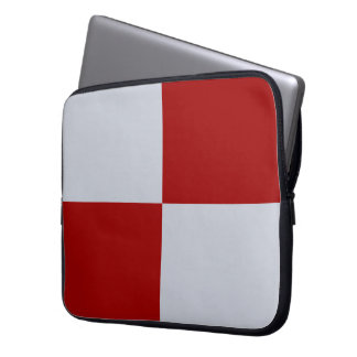 Red and Grey Rectangles Laptop Computer Sleeves