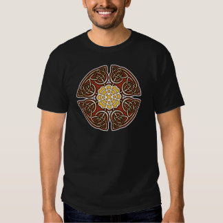 Red and Ivory Celtic Knotwork Shirt