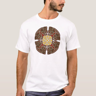 Red and Ivory Celtic Knotwork T-Shirt
