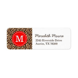 Red and Leopard Print Custom Monogram