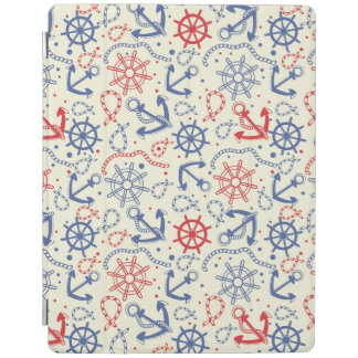Red and navy background with anchor iPad cover