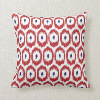 Red and Navy iKat Pillow
