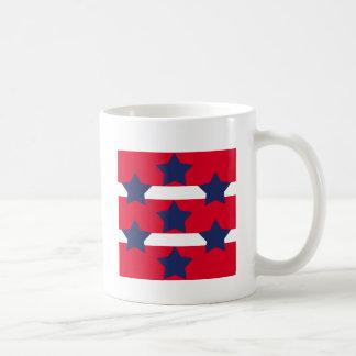 Red and Navy Star Mug