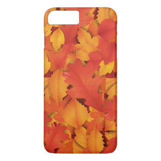 Red and orange autumn leaves iPhone 7 plus case
