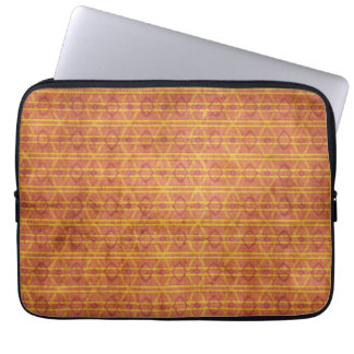 Red and Orange Aztec Pattern Laptop Sleeve