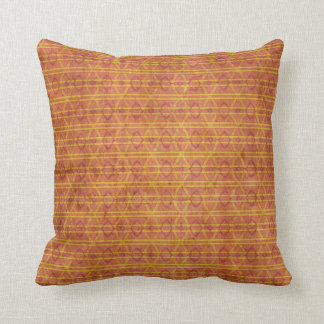 Red and Orange Aztec Pattern Throw Pillow