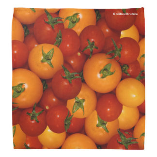 Red and Orange Cherry Tomatoes Bandana