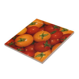 Red and Orange Cherry Tomatoes Tile