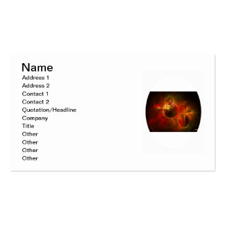 Red and Orange Circles Double-Sided Standard Business Cards (Pack Of 100)