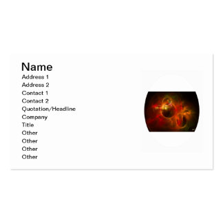 Red and Orange Circles Business Card Templates