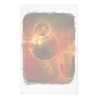 Red and Orange Circles Stationery Paper