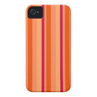 Red and Orange Striped Pattern Design Case-Mate iPhone 4 Cases