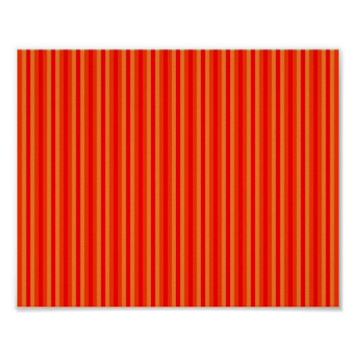 Red and Orange Stripey Hippie Pattern Posters