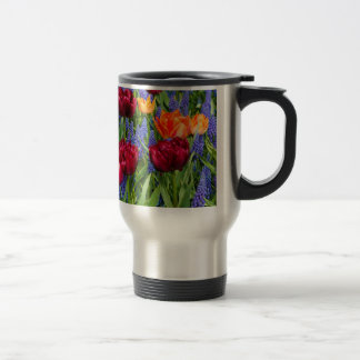 Red And Orange Tulips Travel Mug
