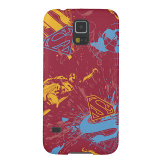 Red and orange with blue collage galaxy s5 case