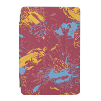 Red and orange with blue collage iPad mini cover