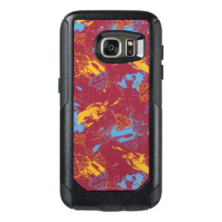 Red and orange with blue collage OtterBox samsung galaxy s7 case