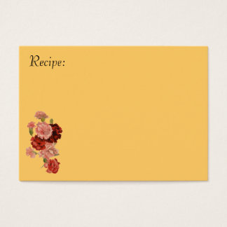 Red and Pink Carnation Recipe Card