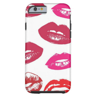 Red and Pink Lips Pattern Tough iPhone 6 Case