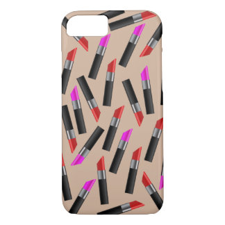 Red and Pink Lipsticks. Makeup Artist iPhone 8/7 Case