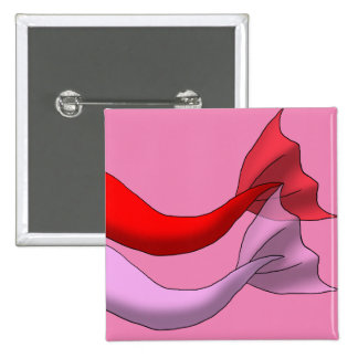 Red and Pink Mermaid Tails 15 Cm Square Badge