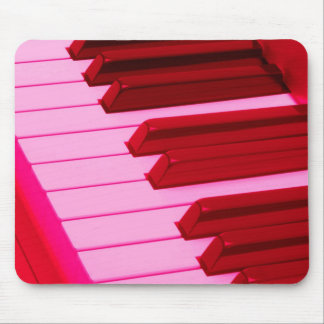 Red and Pink Piano or Organ Keyboard Mouse Pad