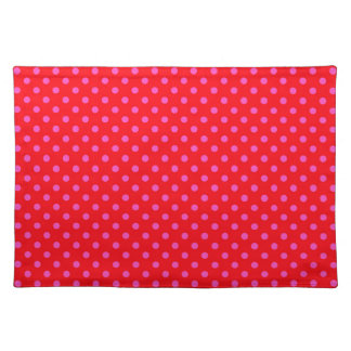 Red and Pink Polka Dots Place Mat