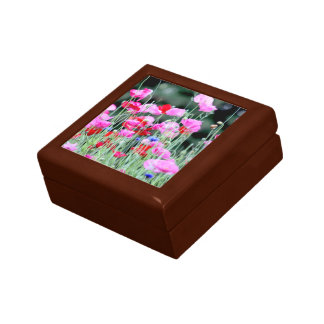 Red and Pink Poppies Jewelry Box