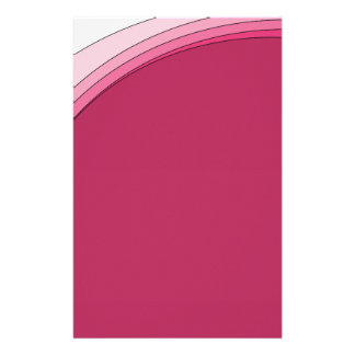 Red and Pink Ribbon Personalised Stationery