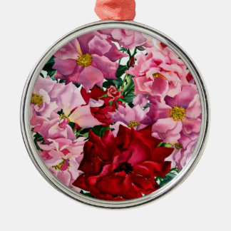 Red and Pink Roses 2008 Christmas Ornament