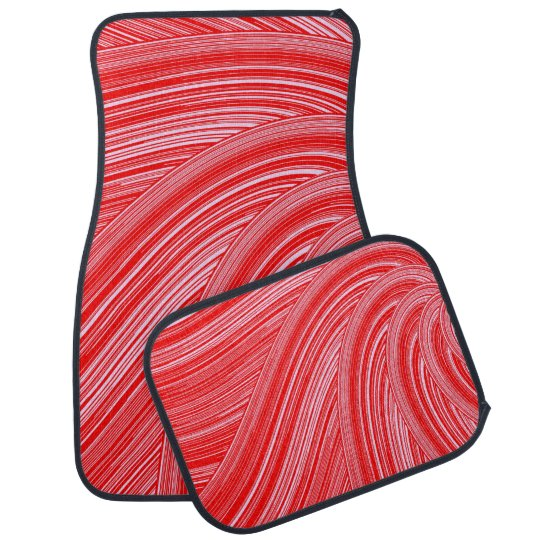Red and Pink Spiral  Print Car and Truck Mats