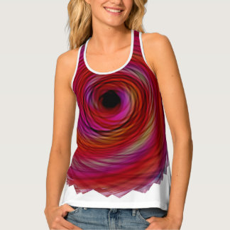 red and pink spiral Tank Top