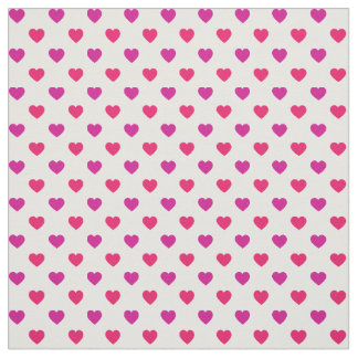 Red and Pink Tiny Heart Pattern Fabric
