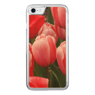 Red and Pink Tulips Carved iPhone 7 Case