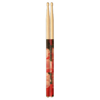 Red and Pink Tulips Drum Sticks