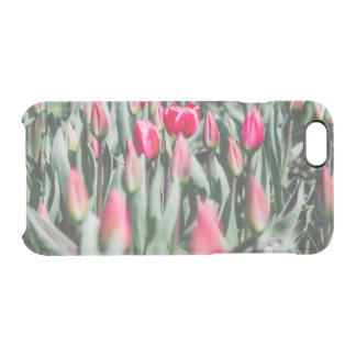 Red and Pink Tulips, Flower Field in Spring Clear iPhone 6/6S Case