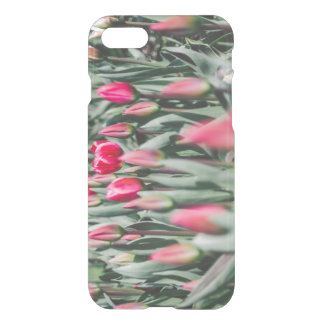 Red and Pink Tulips, Flower Field in Spring iPhone 7 Case