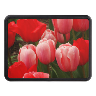 Red and Pink Tulips Tow Hitch Cover