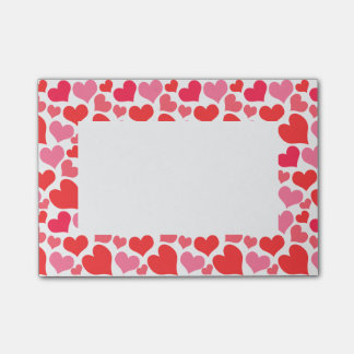 Red and Pink Valentine's Day Hearts for Love Post-it® Notes