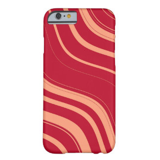 Red and Pink Wavy Stripes Pattern Barely There iPhone 6 Case