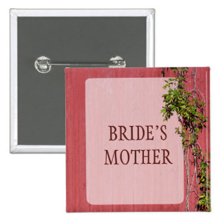 Red And Pink Wedding Ivy Badge Name Tag