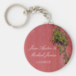 Red And Pink Wedding With Climbing Ivy Key Ring Keychains