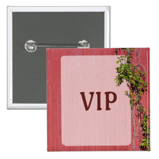 Red And Pink Wedding With Ivy Badge Name Tag