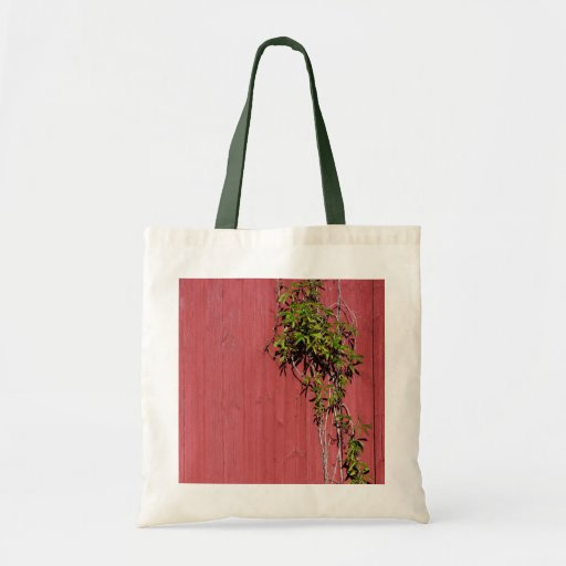 Red And Pink Wedding With Ivy Crafts & Shopping Tote Bags