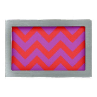 Red And Purple Chevron Belt Buckles