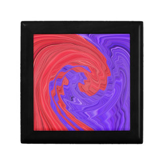Red and Purple Circular Bold Abstract Art Design Trinket Boxes