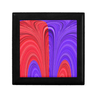 Red and Purple Coming Together Bold Abstract Art D Keepsake Box