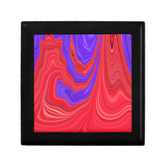 Red and Purple Flowing Bold Color Abstract Art Keepsake Box