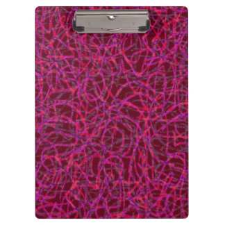 Red and purple scribbled lines pattern clipboard