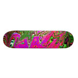 Red and Purple smear on skateboard